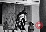 Image of Aaron Douglas and large painting New York City USA, 1937, second 14 stock footage video 65675032306