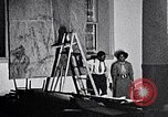 Image of Aaron Douglas and large painting New York City USA, 1937, second 18 stock footage video 65675032306