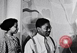 Image of Aaron Douglas and large painting New York City USA, 1937, second 26 stock footage video 65675032306