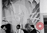 Image of Aaron Douglas and large painting New York City USA, 1937, second 34 stock footage video 65675032306