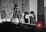 Image of Aaron Douglas and large painting New York City USA, 1937, second 41 stock footage video 65675032306