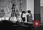 Image of Aaron Douglas and large painting New York City USA, 1937, second 42 stock footage video 65675032306