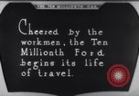 Image of ten millionth Model T Ford Highland Park Michigan USA, 1924, second 45 stock footage video 65675032318