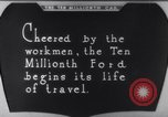 Image of ten millionth Model T Ford Highland Park Michigan USA, 1924, second 46 stock footage video 65675032318