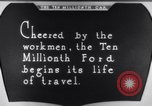 Image of ten millionth Model T Ford Highland Park Michigan USA, 1924, second 48 stock footage video 65675032318