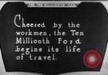 Image of ten millionth Model T Ford Highland Park Michigan USA, 1924, second 49 stock footage video 65675032318