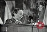 Image of lady addressing election gathering Russia, 1947, second 25 stock footage video 65675032345
