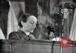 Image of lady addressing election gathering Russia, 1947, second 27 stock footage video 65675032345