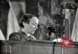 Image of lady addressing election gathering Russia, 1947, second 29 stock footage video 65675032345