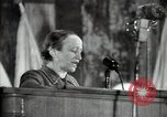 Image of lady addressing election gathering Russia, 1947, second 30 stock footage video 65675032345