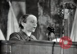 Image of lady addressing election gathering Russia, 1947, second 32 stock footage video 65675032345