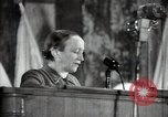 Image of lady addressing election gathering Russia, 1947, second 34 stock footage video 65675032345
