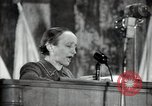Image of lady addressing election gathering Russia, 1947, second 53 stock footage video 65675032345