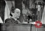 Image of lady addressing election gathering Russia, 1947, second 55 stock footage video 65675032345