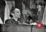 Image of lady addressing election gathering Russia, 1947, second 56 stock footage video 65675032345