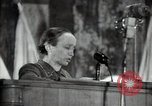 Image of lady addressing election gathering Russia, 1947, second 58 stock footage video 65675032345