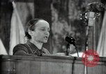 Image of lady addressing election gathering Russia, 1947, second 59 stock footage video 65675032345