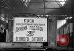 Image of manufacturing plant and farmers Russia, 1947, second 13 stock footage video 65675032346