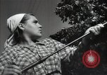 Image of citizens up-keeping the village Podolsk Russia, 1949, second 46 stock footage video 65675032370
