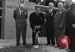 Image of Harry S Truman at Wake Forest College ground breaking ceremony Winston-Salem North Carolina USA, 1951, second 21 stock footage video 65675032376