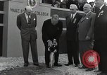 Image of Harry S Truman at Wake Forest College ground breaking ceremony Winston-Salem North Carolina USA, 1951, second 25 stock footage video 65675032376