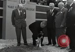 Image of Harry S Truman at Wake Forest College ground breaking ceremony Winston-Salem North Carolina USA, 1951, second 26 stock footage video 65675032376