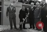Image of Harry S Truman at Wake Forest College ground breaking ceremony Winston-Salem North Carolina USA, 1951, second 27 stock footage video 65675032376