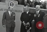 Image of Harry S Truman at Wake Forest College ground breaking ceremony Winston-Salem North Carolina USA, 1951, second 29 stock footage video 65675032376