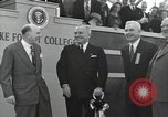Image of Harry S Truman at Wake Forest College ground breaking ceremony Winston-Salem North Carolina USA, 1951, second 30 stock footage video 65675032376