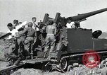 Image of US 24th Infantry soldiers firing from tank United States USA, 1947, second 20 stock footage video 65675032380