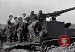 Image of US 24th Infantry soldiers firing from tank United States USA, 1947, second 22 stock footage video 65675032380