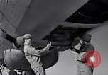 Image of maintenance of Convair B-36 Fort Worth Texas USA, 1951, second 37 stock footage video 65675032401