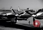 Image of Convair B-36 taxiing Fort Worth Texas USA, 1950, second 8 stock footage video 65675032411