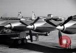 Image of Convair B-36 taxiing Fort Worth Texas USA, 1950, second 16 stock footage video 65675032411