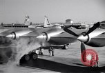 Image of Convair B-36 taxiing Fort Worth Texas USA, 1950, second 19 stock footage video 65675032411