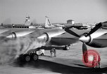 Image of Convair B-36 taxiing Fort Worth Texas USA, 1950, second 20 stock footage video 65675032411