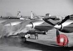 Image of Convair B-36 taxiing Fort Worth Texas USA, 1950, second 21 stock footage video 65675032411