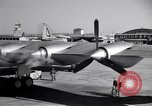 Image of Convair B-36 taxiing Fort Worth Texas USA, 1950, second 27 stock footage video 65675032411