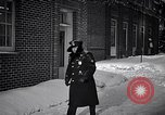 Image of Policeman checking building security United States USA, 1951, second 28 stock footage video 65675032416