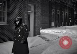 Image of Policeman checking building security United States USA, 1951, second 29 stock footage video 65675032416