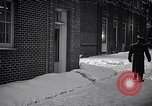 Image of Policeman checking building security United States USA, 1951, second 51 stock footage video 65675032416