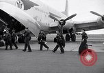 Image of Airmen boarding C-124A Globemaster Roswell New Mexico USA, 1953, second 1 stock footage video 65675032424