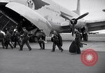 Image of Airmen boarding C-124A Globemaster Roswell New Mexico USA, 1953, second 2 stock footage video 65675032424