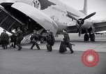 Image of Airmen boarding C-124A Globemaster Roswell New Mexico USA, 1953, second 3 stock footage video 65675032424