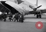 Image of Airmen boarding C-124A Globemaster Roswell New Mexico USA, 1953, second 4 stock footage video 65675032424