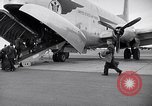 Image of Airmen boarding C-124A Globemaster Roswell New Mexico USA, 1953, second 10 stock footage video 65675032424