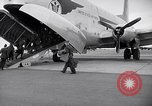Image of Airmen boarding C-124A Globemaster Roswell New Mexico USA, 1953, second 12 stock footage video 65675032424