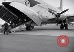 Image of Airmen boarding C-124A Globemaster Roswell New Mexico USA, 1953, second 16 stock footage video 65675032424