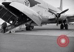 Image of Airmen boarding C-124A Globemaster Roswell New Mexico USA, 1953, second 17 stock footage video 65675032424