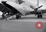 Image of Airmen boarding C-124A Globemaster Roswell New Mexico USA, 1953, second 18 stock footage video 65675032424